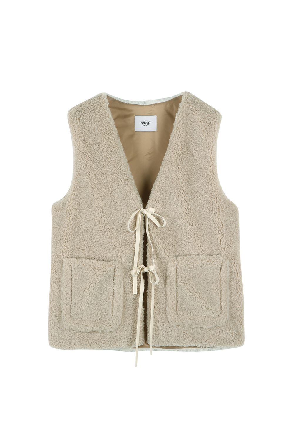 TWO-TONE HAIRY VEST