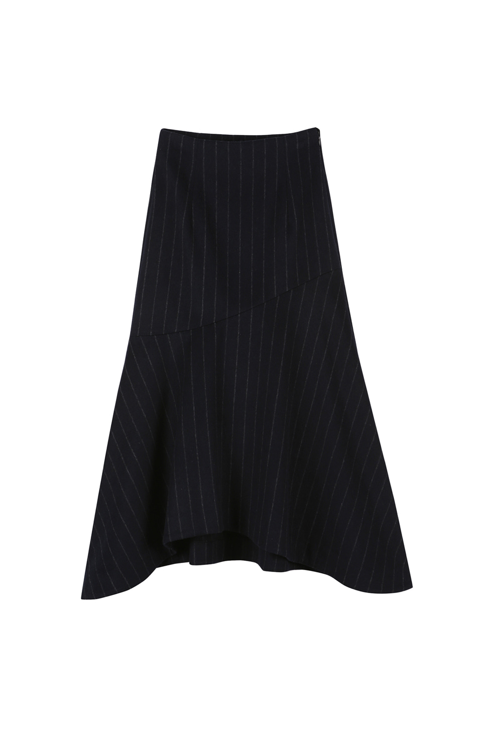 STRIPE WOOL SKIRT