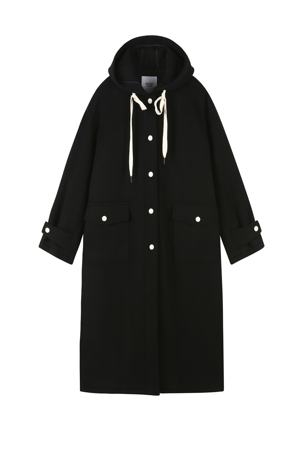 OVERSIZED HOOD COAT - BLACK