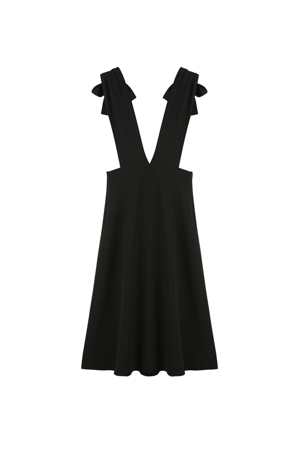 RIBBON TIE DRESS - BLACK