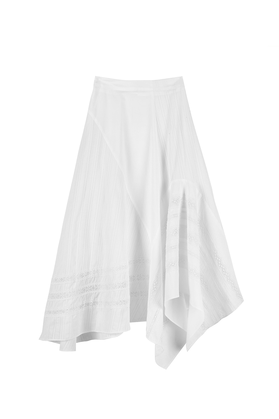 LACE TAPE SKIRT - WHITE