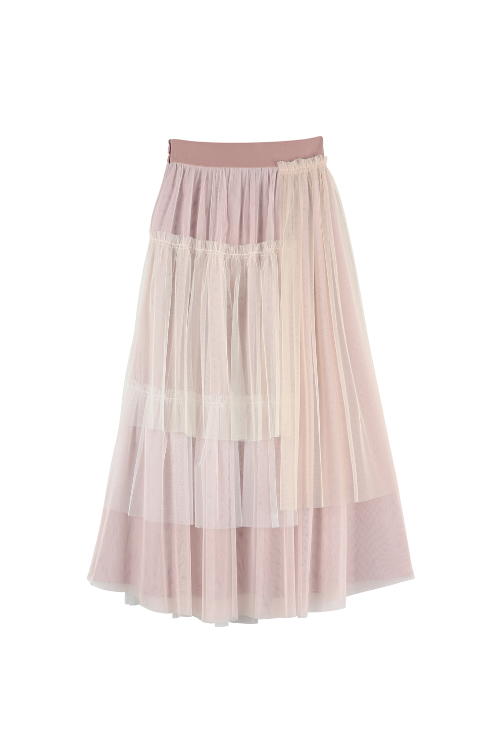 UNBALANCED TULLED SKIRT - PINK