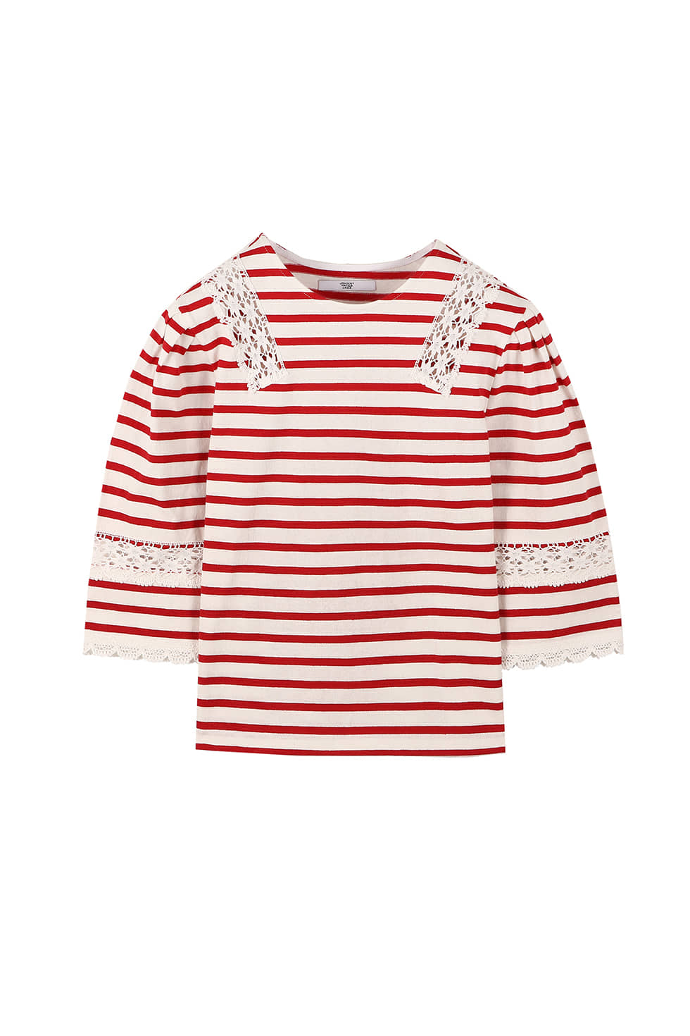 STRIPE JERSEY TOP - RED