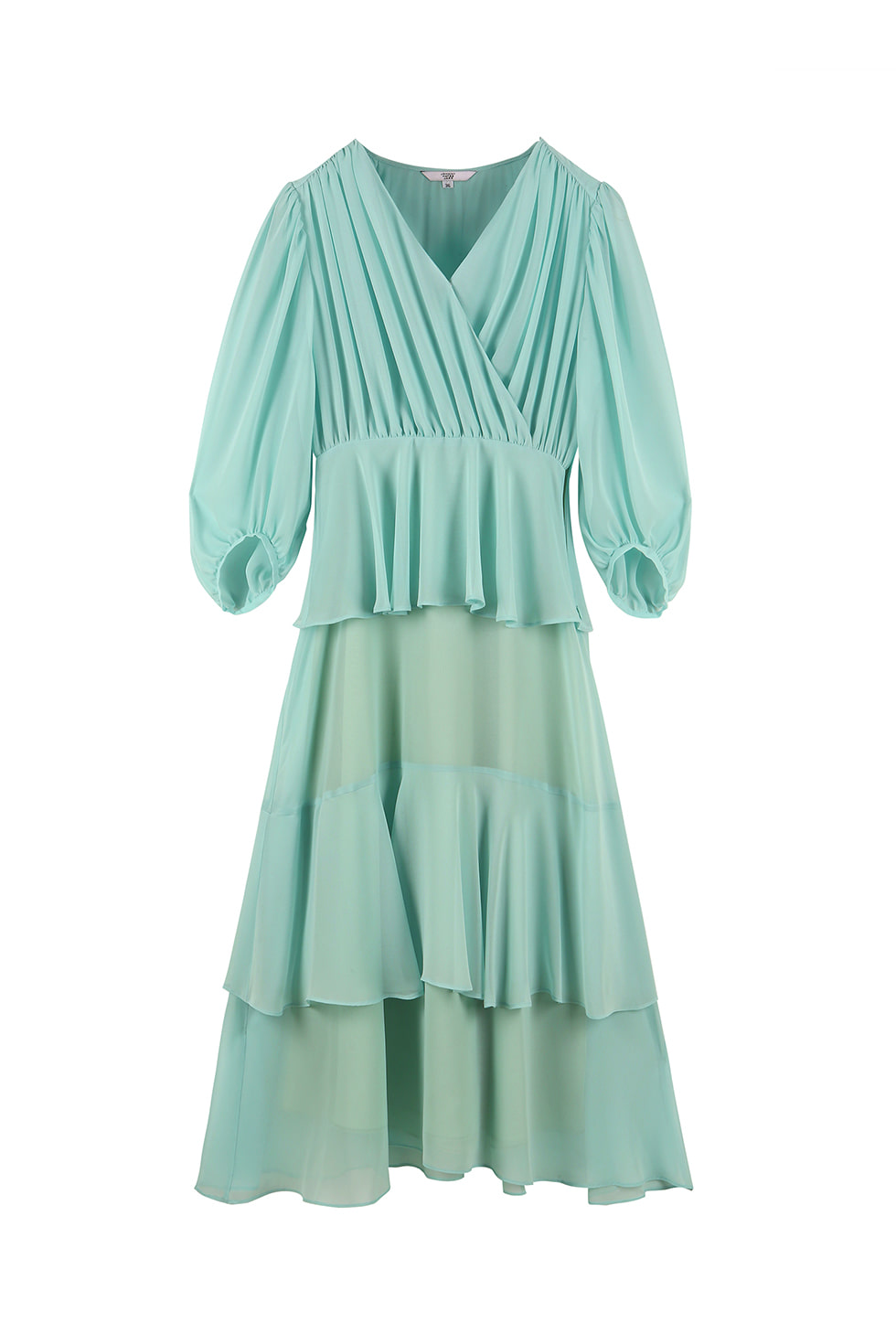 SHIRRING FULL DRESS - MINT