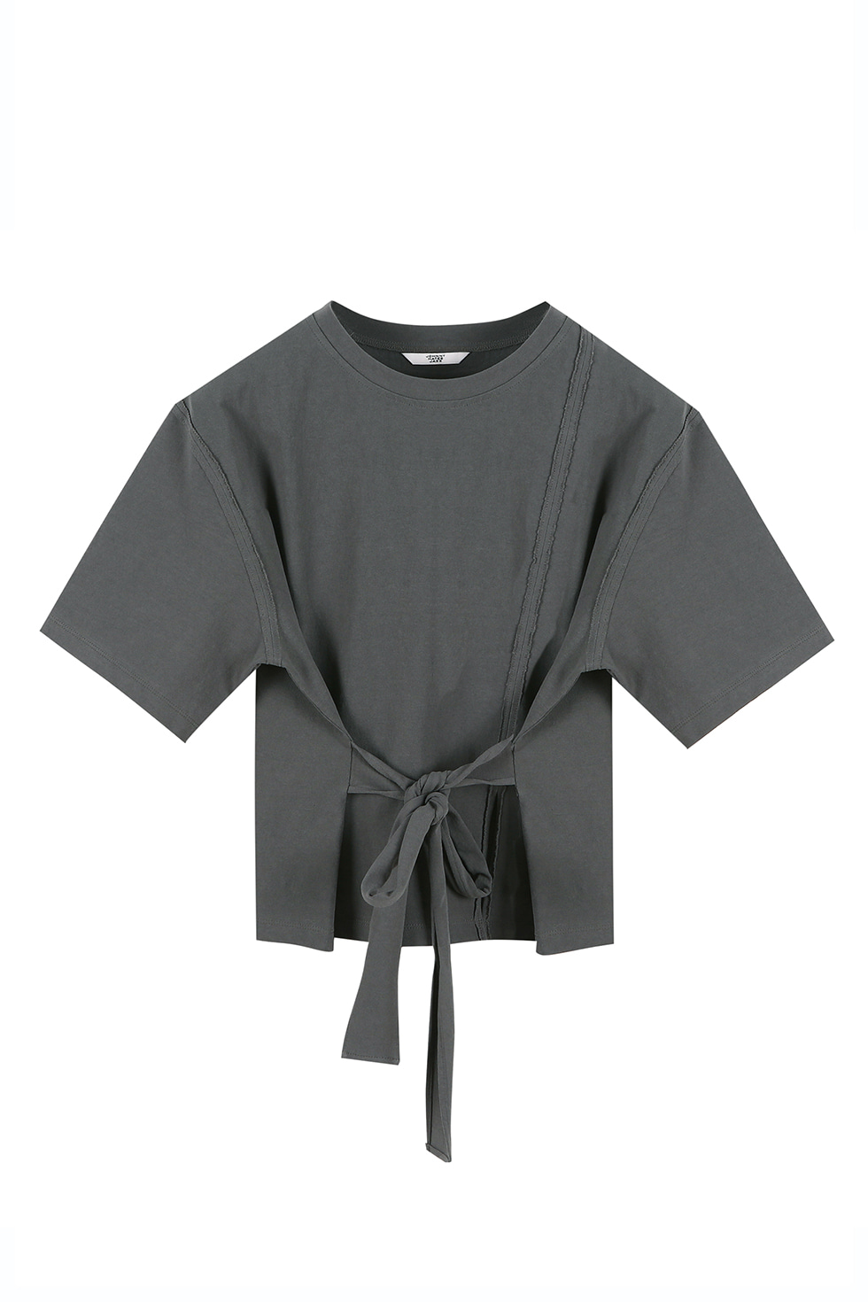 UNBALANCED JERSEY TOP - GREY