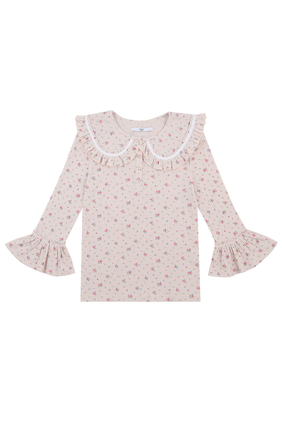 FLORAL JERSEY TOP - PINK