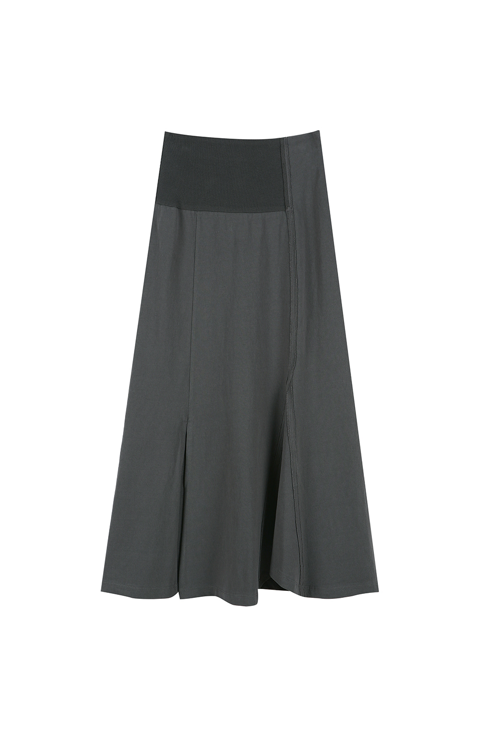 UNBALANCE JERSEY SKIRT - GREY