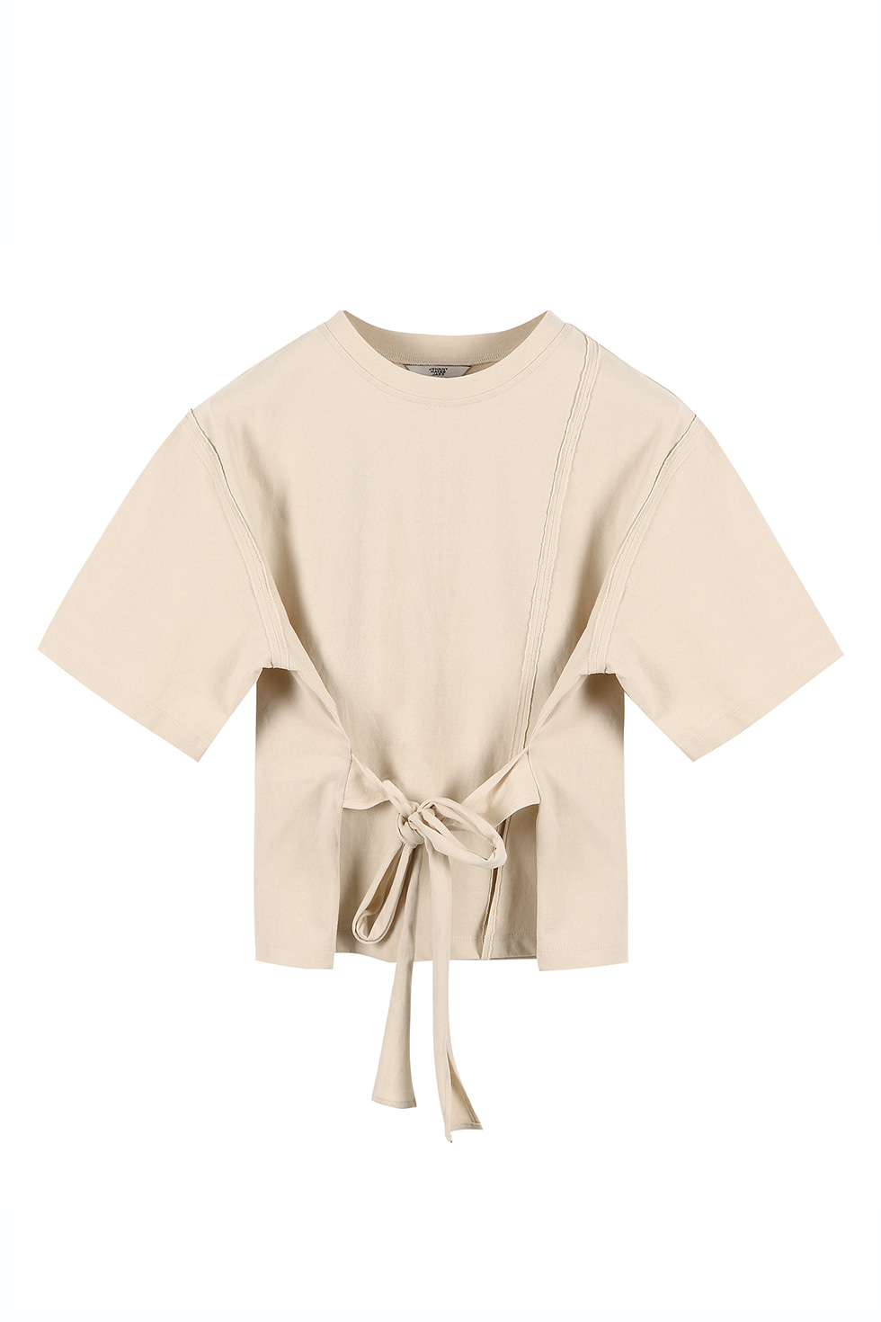 UNBALANCED JERSEY TOP - BEIGE