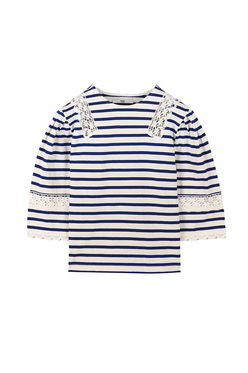 STRIPE JERSEY TOP - BLUE