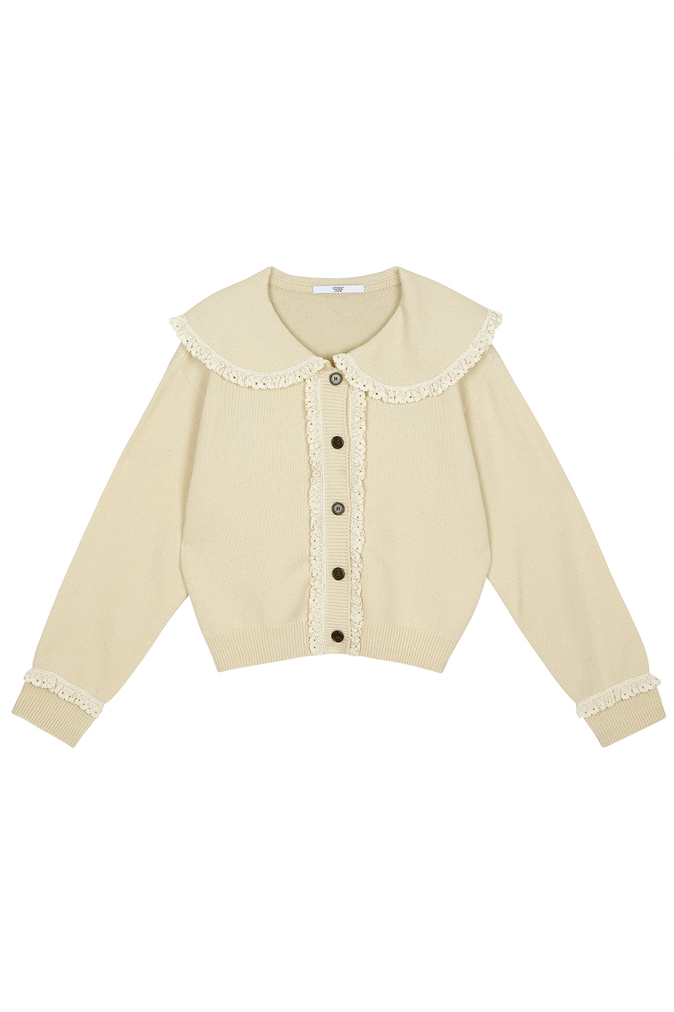 BIG COLLAR CARDIGAN - IVORY
