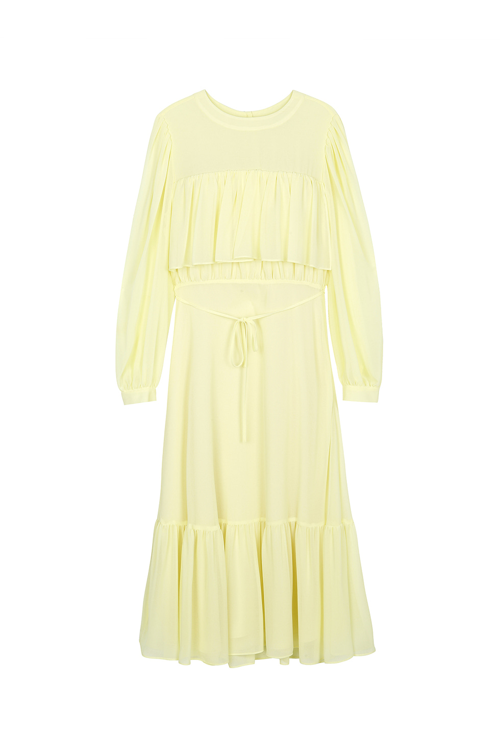 CHIFFON CANCAN DRESS - LEMON