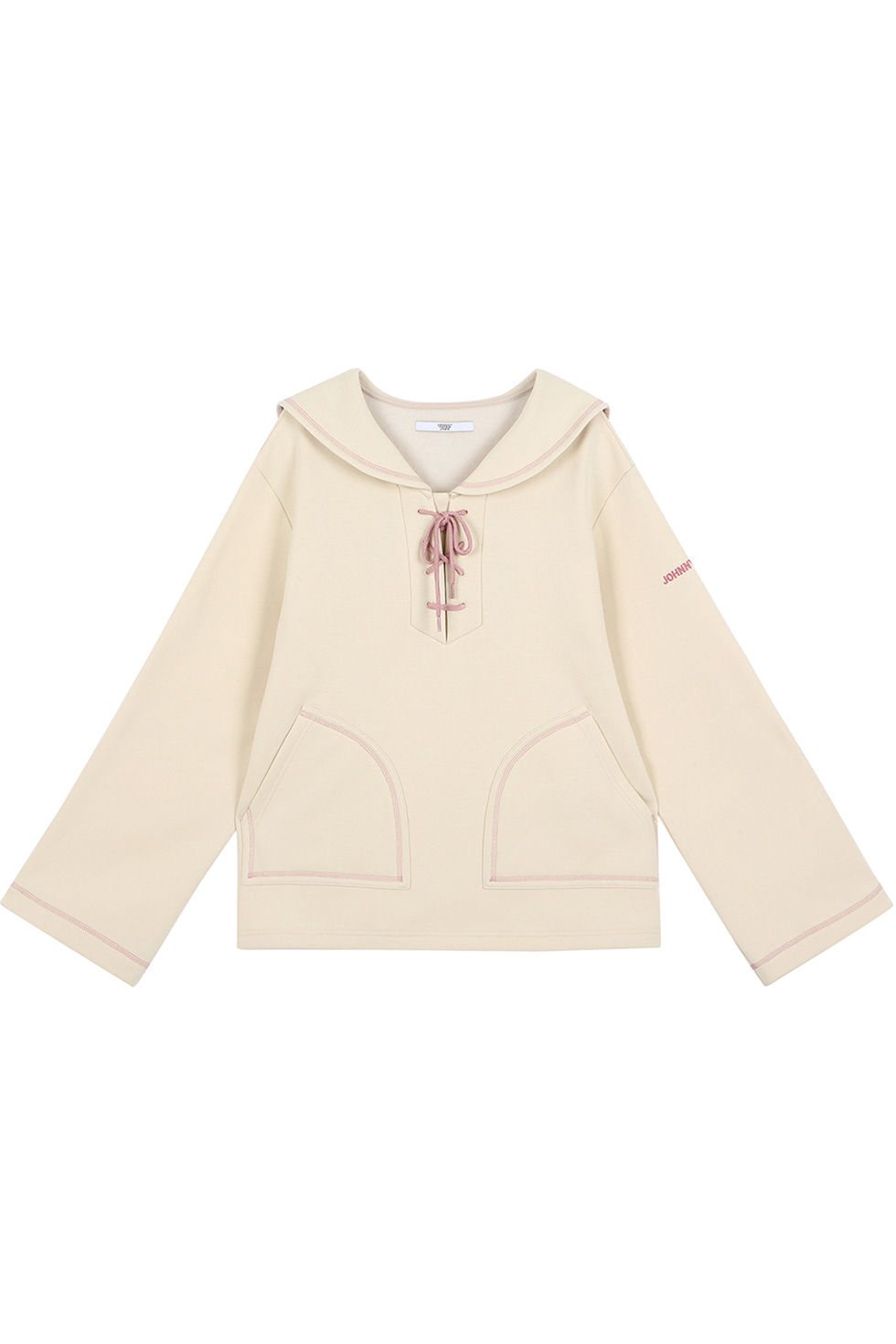 SAILER COLLAR PULLOVER - IVORY