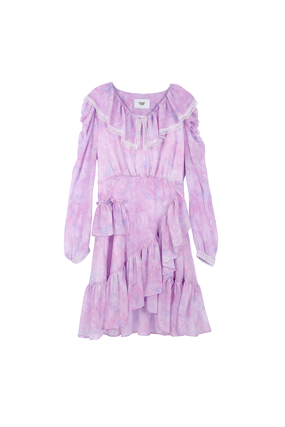 MABLING RUFFLE MINI DRESS - PURPLE