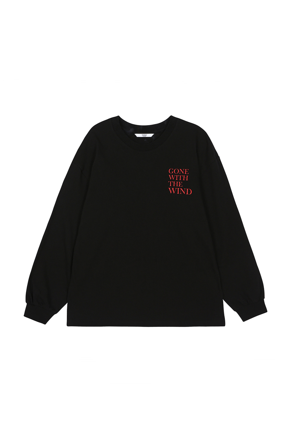 """WIND"" LONG SLEEVE T-SHIRTS - BLACK"