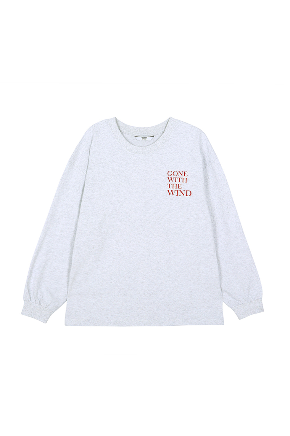 """WIND"" LONG SLEEVE T-SHIRTS - GREY"