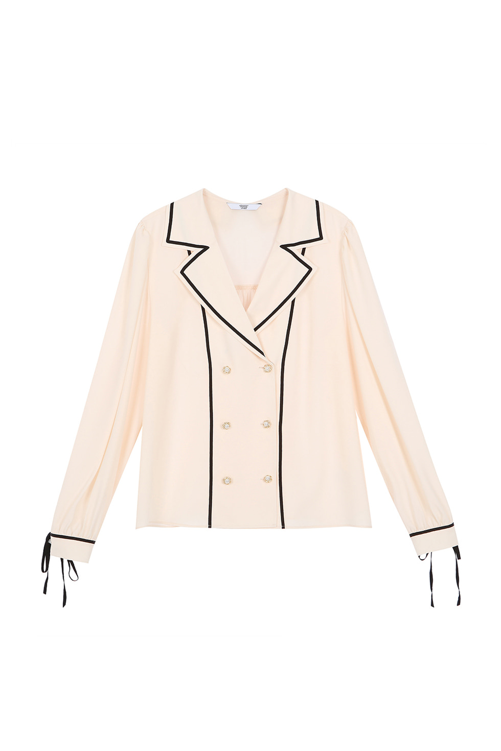 TAPE LINE COLLAR BLOUSE - IVORY