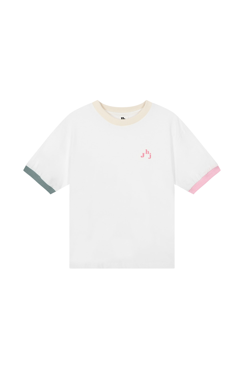JHZ COLOR BLOCK T-SHIRTS - WHITE
