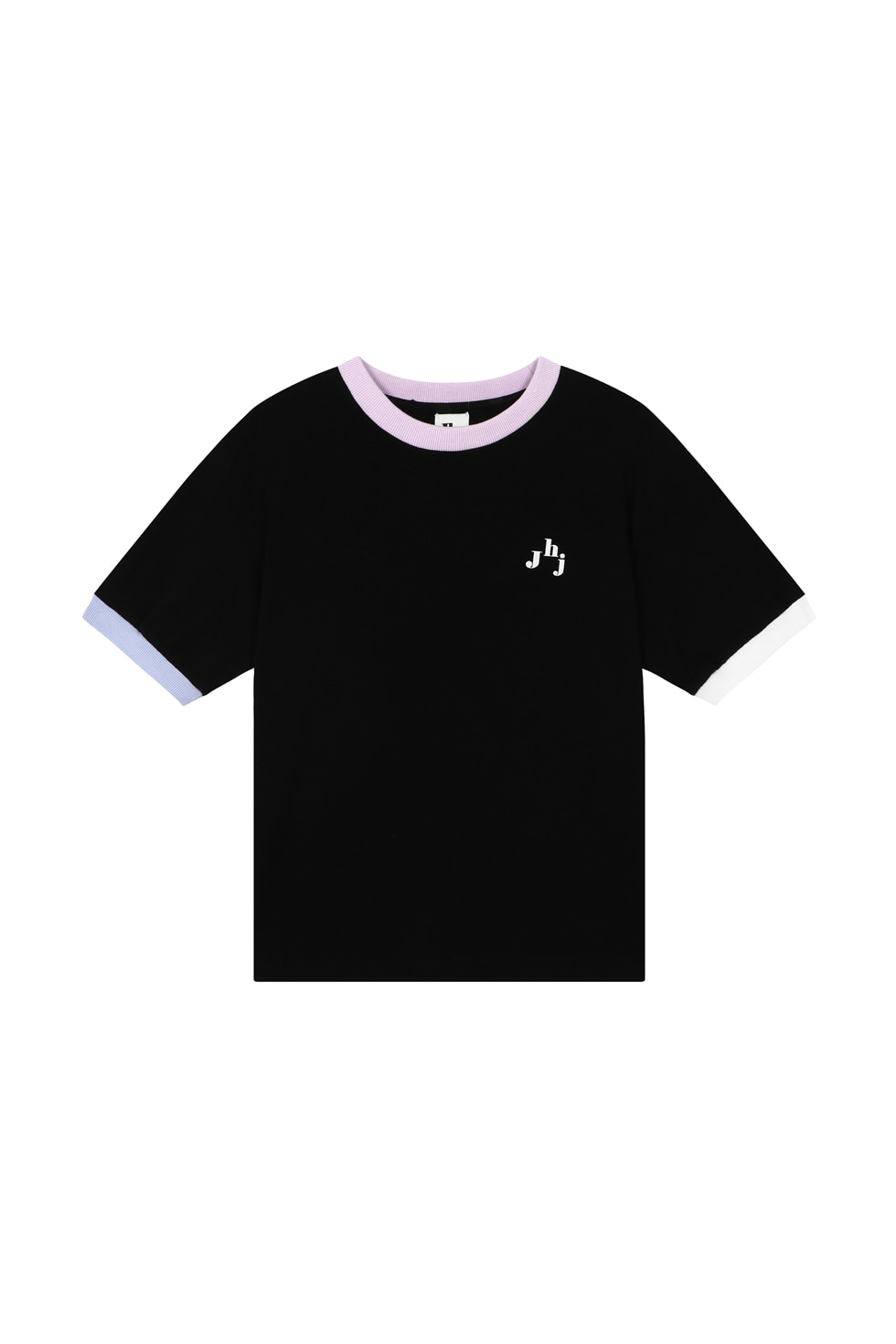 JHZ COLOR BLOCK T-SHIRTS - BLACK