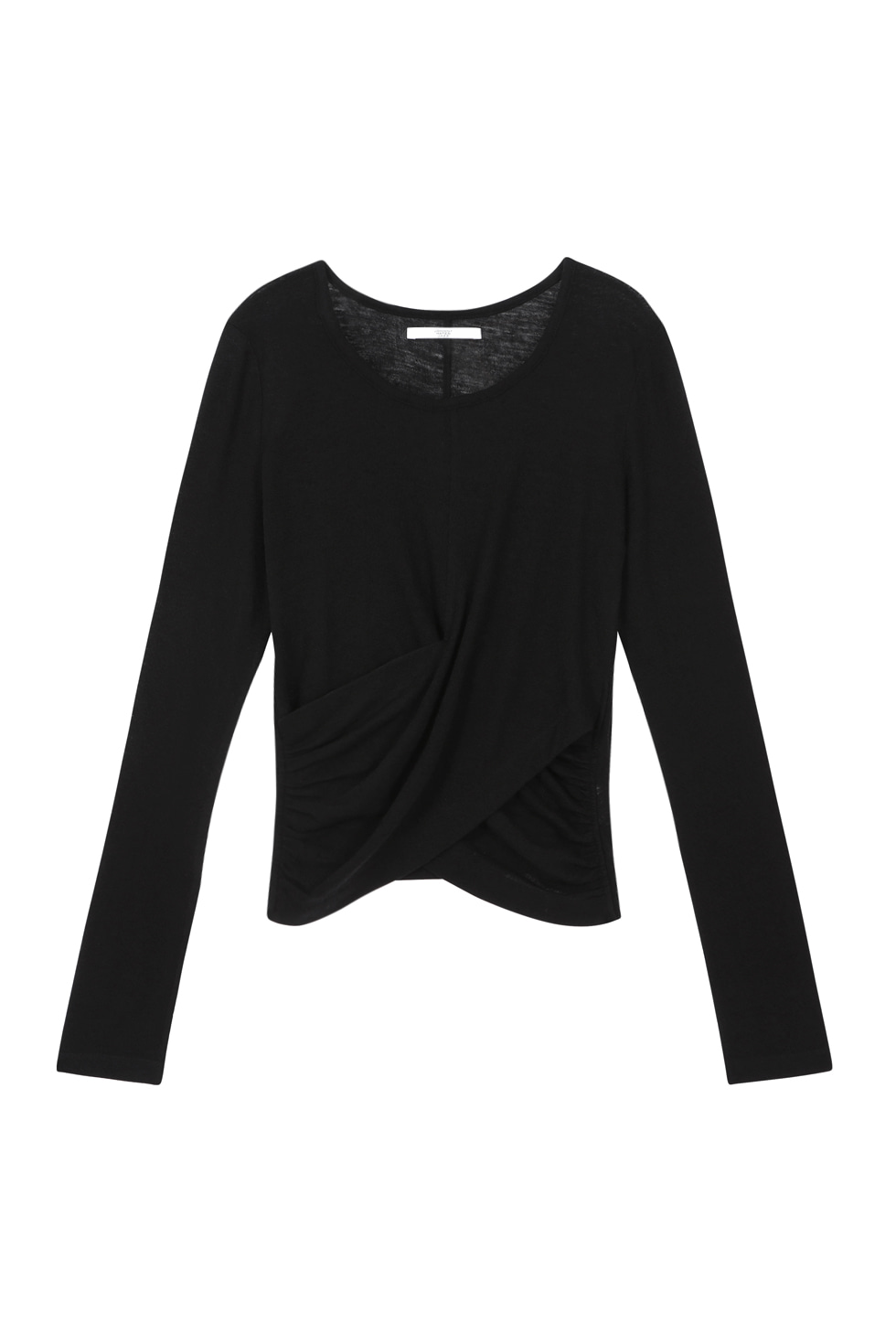 WOOL JERSEY LONG SLEEVES - BLACK