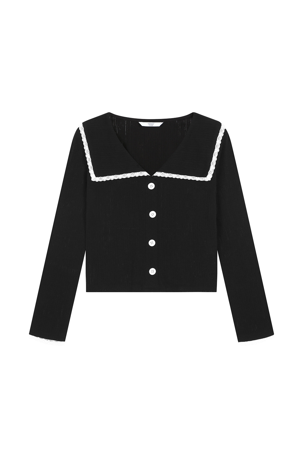 [4월 20일 예약배송]SAILOR COLLAR LONG SLEEVES - BLACK