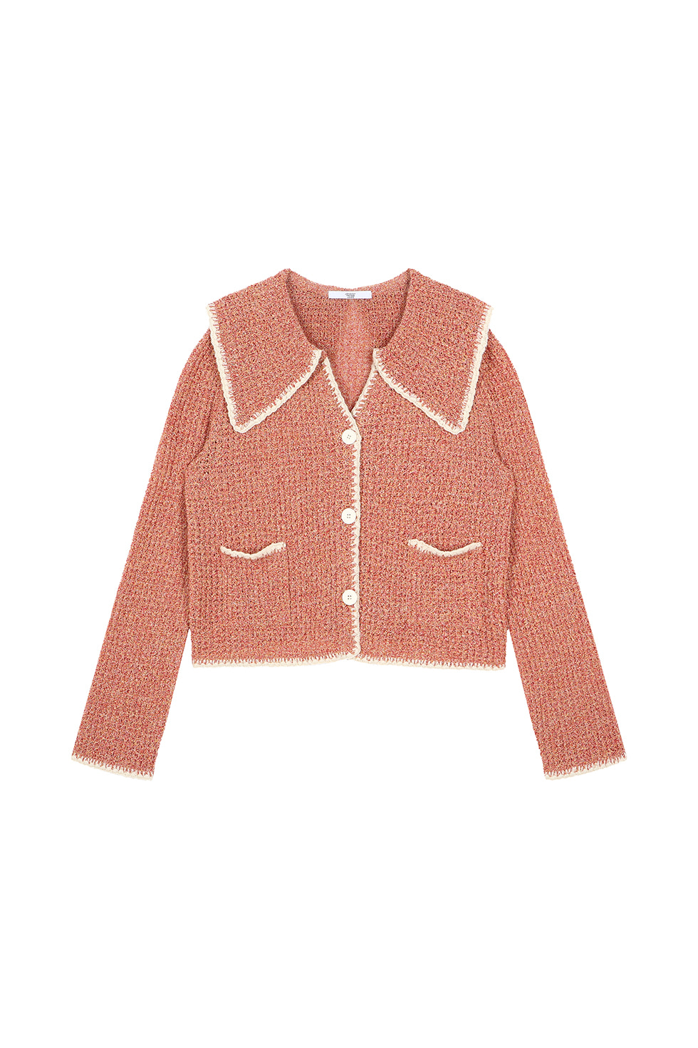 WIDE COLLAR CARDIGAN - RED