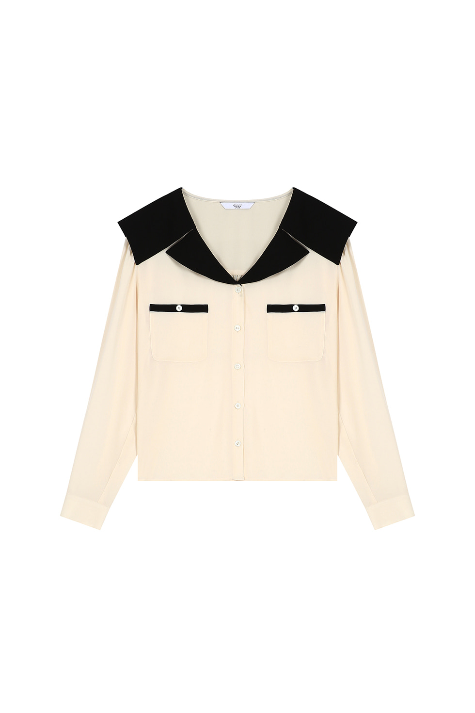 WIDE COLLAR BLOUSE - IVORY