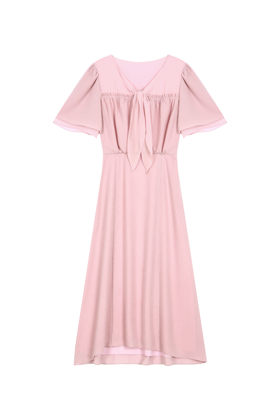 LAYERED CHIFFON DRESS - PINK