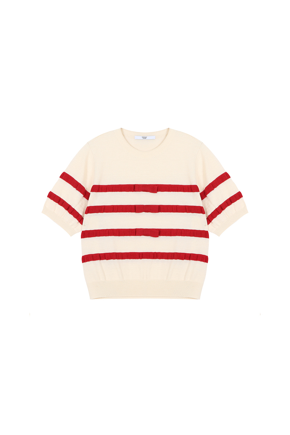 RIBBON KNIT PULLOVER - RED