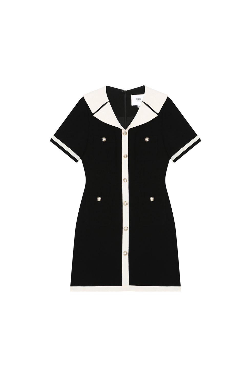 [6월 10일 예약배송]POCKET MINI DRESS - BLACK