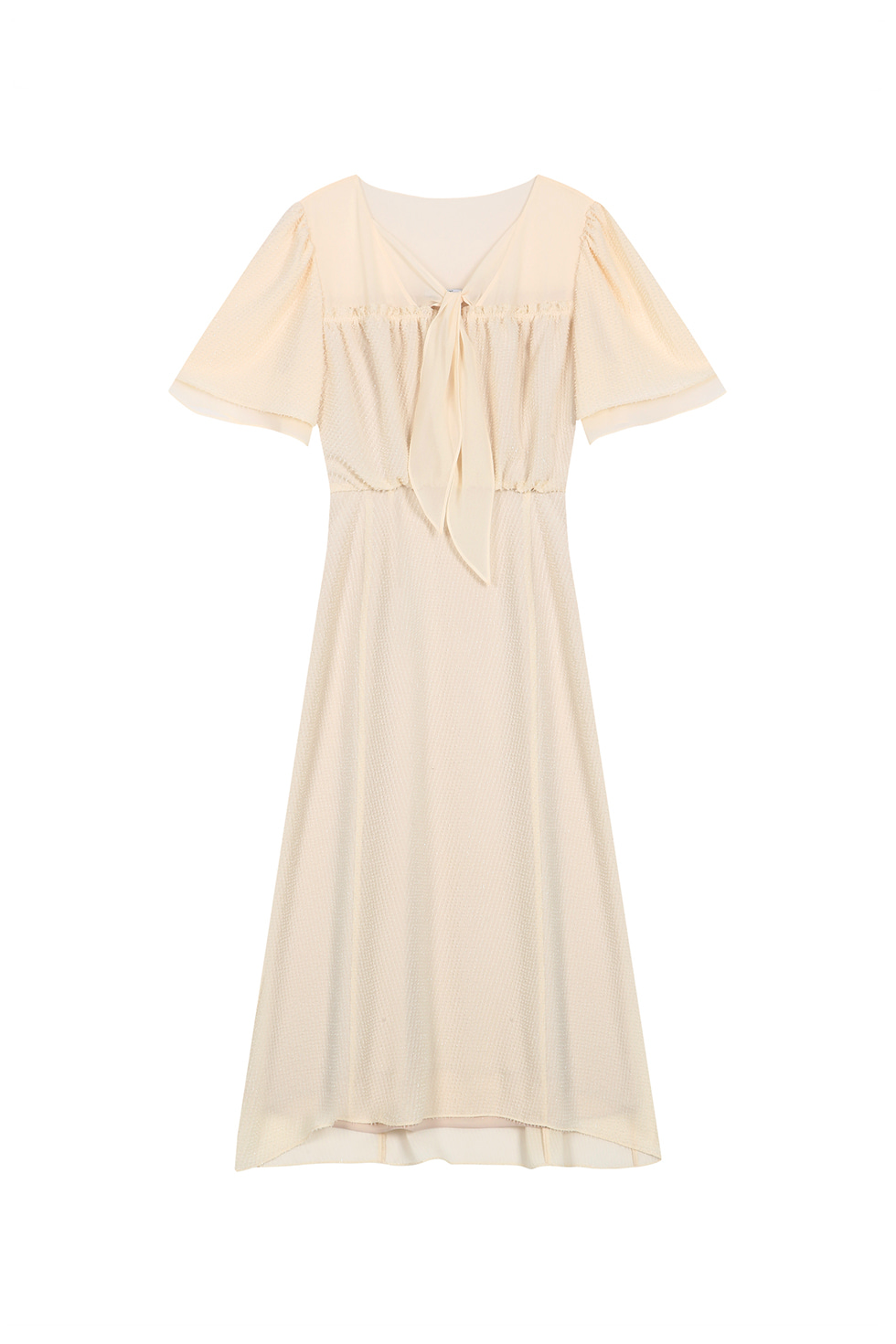 LAYERED CHIFFON DRESS - IVORY