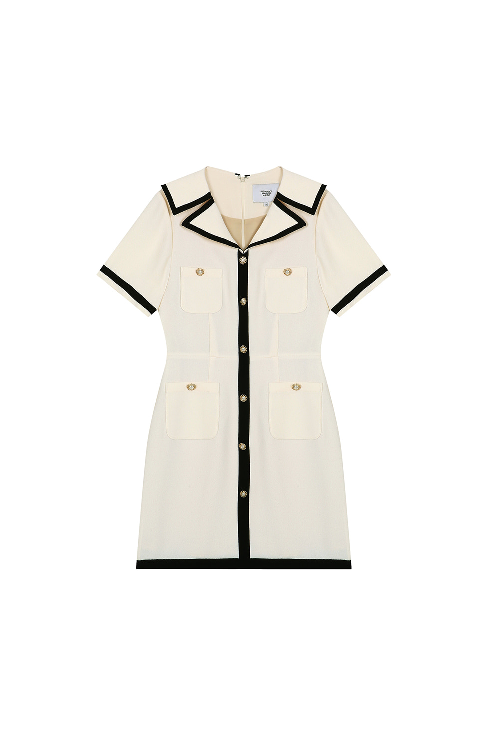 [6월 10일 예약배송]POCKET MINI DRESS - IVORY
