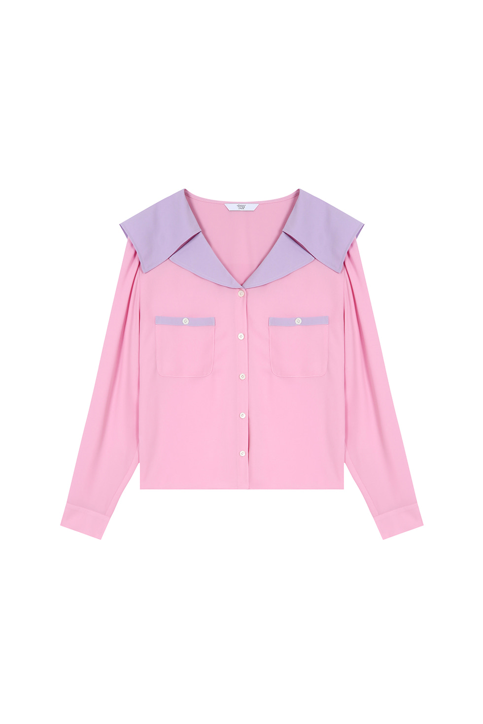 WIDE COLLAR BLOUSE - PINK